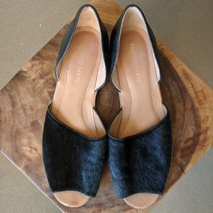 Mohair & Leather Flats